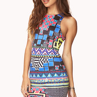Electric Tribal Print Dress
