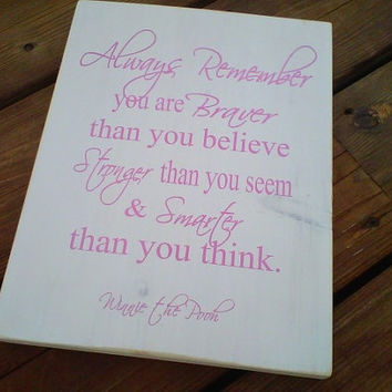 Wooden Sign Winnie the Pooh quote by dressingroom5 on Etsy