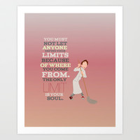 the only limits are your soul.. ratatouille.. linguine  Art Print by Studiomarshallarts