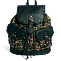 New Look | New Look Tapestry Floral Print Backpack at ASOS
