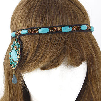 Beaded Dangle Headband