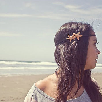 Double Starfish Headband Starfish Hair Accessories Mermaid Hair Accessories Beach Hair Accessories Cute Adorable Romantic Whimsical Dreamy