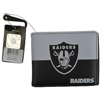 Licensed Official Brand New NFL Oakland Raiders Men Women Synthetic Leather Bi-Fold Wallet