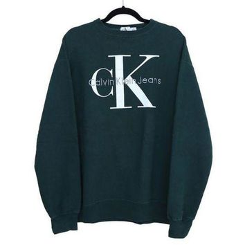 Calvin klein Jeans Fashion Long Sleeve Pullover Sweatshirt Top Sweater I