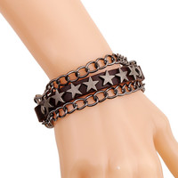 Awesome Great Deal Shiny Stylish New Arrival Hot Sale Gift Vintage Punk Leather Accessory Bracelet [6058334209]