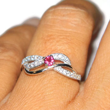 Infinity Ring, Low Profile,Middle Finger Ring,