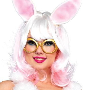 Leg Avenue Bunny Two-Tone Wig With Latex Ears A2677
