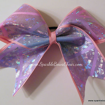 Ice Princess Sparkle Large Cheer Hair Bow by SparkleBowsCheer