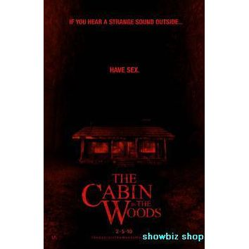 Cabin In The Woods Movie poster Metal Sign Wall Art 8in x 12in