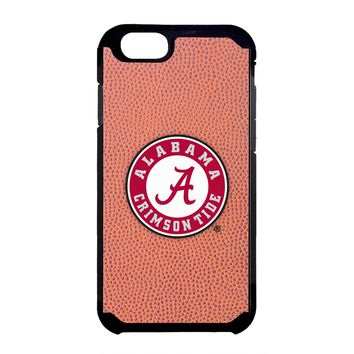 Alabama Crimson Tide Classic Football Pebble Grain Feel iPhone 6 Case,One Size,Brown