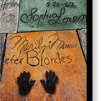 Hollywood Walk Of Fame Marilyn Monroe 5d29043 Canvas Print