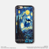 Doctor Who Starry Night iPhone Case Black Hard case 255