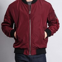 Contrast Lightweight Bomber Flight Jacket