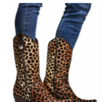 Rockwell Tharp Safari Cheetah Cowboy Boot