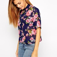 New Look Floral Boxy Shirt at asos.com