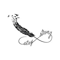 Stay Strong - Temporary Tattoo (Set of 2)
