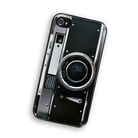 IPhone Case Retro Black Silver Camera IPhone Hard Case / Fits Iphone 4, 4S Black Trim | Luulla