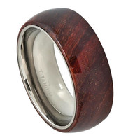 Wood Ring,Mens Titanium Wedding Band,Titanium Wooden Ring,Promise Ring for Men,Mens Wedding Band Wood,Hawaiian Koa Wood Inlay, SNUJDTIQGQ