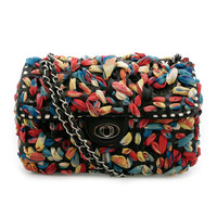 Chiffon Embellished Shoulder Bag