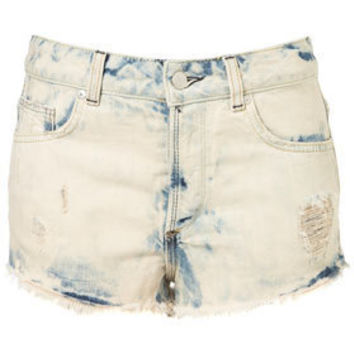 MOTO Bleach Splatter Hotpants - Shorts  - Apparel