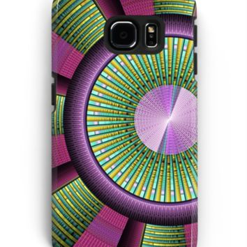 'Round and Colorful Fractal Pattern' Samsung Galaxy Hülle & Skin by gabiwArt
