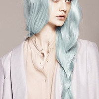 Alaska Ice Blue Pastel Hair Dye: A uniquely gorgeous color for Spring.