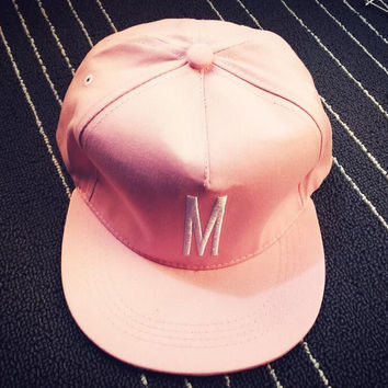 Pink Embroidery M Cap Hat Summer Gift 17