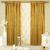 Maifa Textiles Gold Velvet Window Theater Curtain Drape 96""