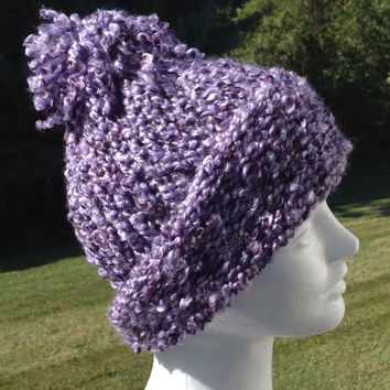 Purple Adult Knitted Winter Hat