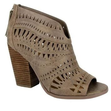 Groove Thang Laser Cut Ankle Boot