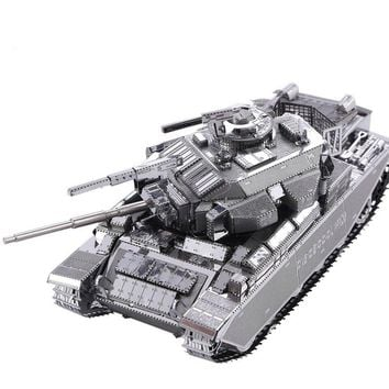 Original Piececool CENTURION AFV Tank P058-S Model DIY 3DAssembling Laser Cut Metal Puzzle Toys 2 SHEETS Military Series