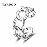 Tardoo Buckle Ring Jewelry Polishing S 925 Sterling Silver Noble Rings for Women & Men Adjustable Cuff Casual Ring