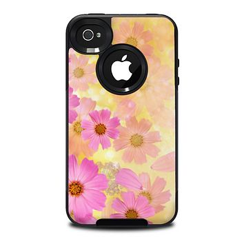 The Yellow & Pink Flowerland Skin for the iPhone 4-4s OtterBox Commuter Case