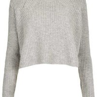 Knitted Ribbed Crop Jumper - Topshop USA