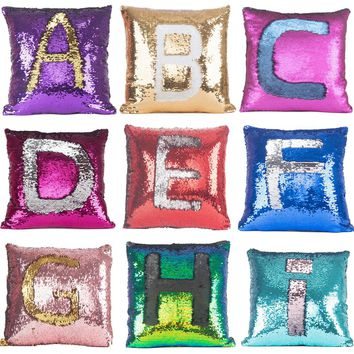 FGHGF Reversible Sequin Cushion Cover DIY Tone Glitter Throw Pillow Case Square Home Decor Cojines Christmas Promotion Gifts