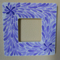 Painted Frame Flower Lavender Aboriginal Inspired by Acires