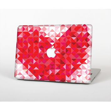 The Geometric Faded Red Heart Skin for the Apple MacBook Air 13""