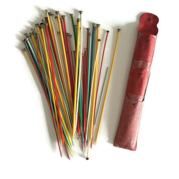 Knitting Needles, Knitting Needle Case, Crochet Needles, Vintage Knitting Needles, Knitting Supplies, Plastic Knitting Needles