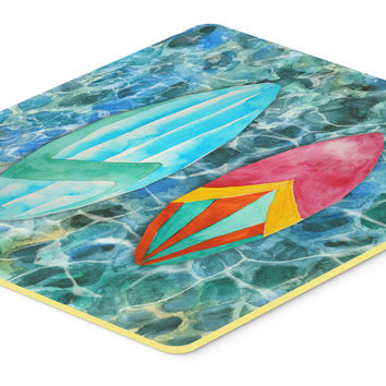 Surf Boards on the Water Kitchen or Bath Mat 24x36 BB5366JCMT