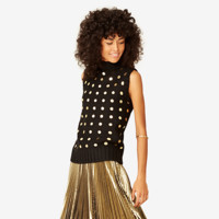 Kate Spade Saturday Gold Dot Sweater Shell
