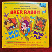 WALT DISNEY'S - Uncle Remus...Brer Rabbit...Music from the Original Soundtrack of Song of the South - 1963 Vintage Vinyl Record Album