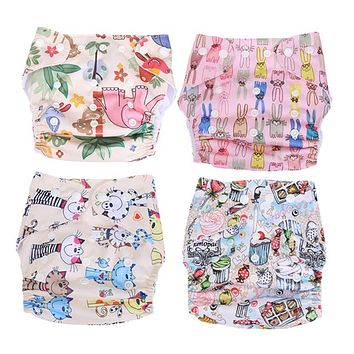 TPU Washable Baby Cloth Diaper Cover Waterproof Printing Baby Diapers Reusable Nappy Newborn Infant Underpants Training Panties