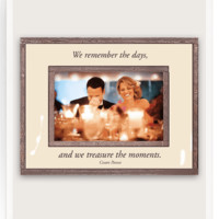 We Remember The Days Copper & Glass Photo Frame