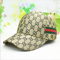 Gucci baseball cap male red with stylish plaid hat