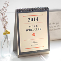 2014 Desk Scheduler