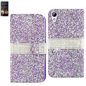BLING Diamond Flip Case HTC Desire 626 PURPLE