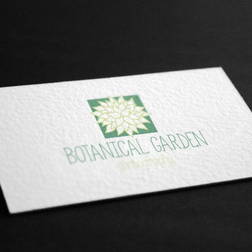 Pre-Made Botanical Garden Beauty Nature Organic Boutique Flower Shop Accessories Photography Jewelry Any Business Shop Logo