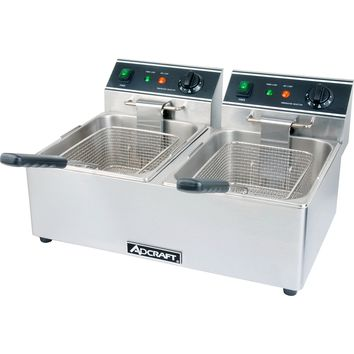 Commercial Kitchen Countertop Electric Double Tank Deep Fryer 6L