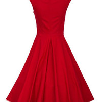 Sweetheart Neck Sleeveless Sheath Midi Tent Dress