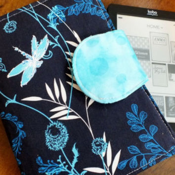 Dragon Fly Blue and Aqua E-Reader Cover Kindle , Nook Cover, Kobo Cover, Kindle Fire Cover, Kindle Touch Cover Made to Order